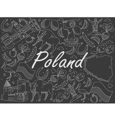 Poland chalk vector
