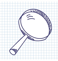 Magnifier glass vector