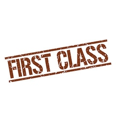First class stamp vector