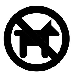 No dogs symbol vector