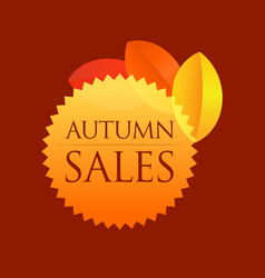 Autumn sales - round emblem vector