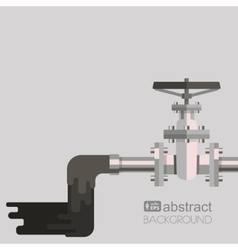 Background water pollution with pipe valve on the vector