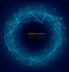 Blue digital futuristic technology mesh background vector