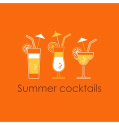 Cocktail party alcohol drinks vector image