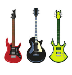 collection of heavy metal electric bass or vector image vector image