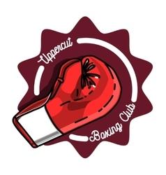 Color vintage Boxing emblem vector image vector image
