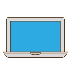 Connected computer icon image design vector image