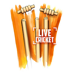 Cricket stumps and blowing bail vector