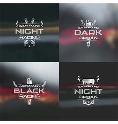 Dark racing urban blurred background vector