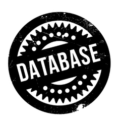 Database rubber stamp vector
