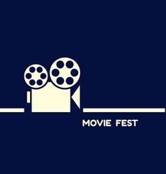 digital blue cinema icon vector image
