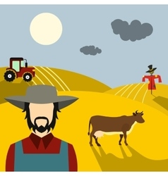 Farm flat concept vector image