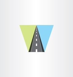 highway icon logo sign vector image