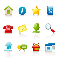 icons for web sites vector image vector image