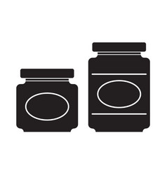 jar silhouettes vector image vector image