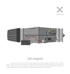 Jet engine in a flat style Part of the aircraft vector image