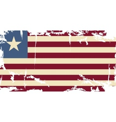 Liberian grunge flag vector image vector image