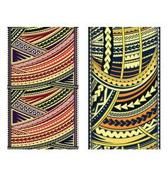 maori style ornament set vector image vector image