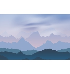 Nature landscape with mountain peaks vector