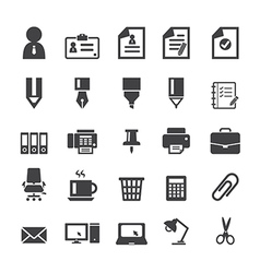 Office supplies icons vector