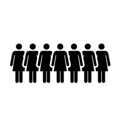 people icon group of women person team symbol sign vector image vector image