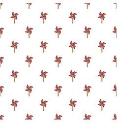 Pinwheel toy pattern vector