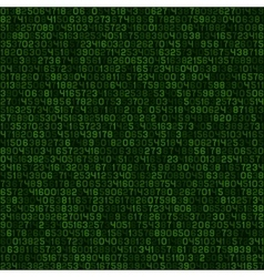 Seamless green decimal computer code background vector