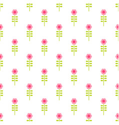 seamless pattern with flowers on white background vector image vector image