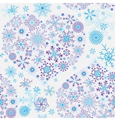 Seamless white christmas pattern vector image