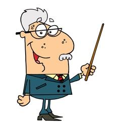 Senior Professor Man vector image vector image