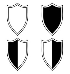 Set the shield icon vector