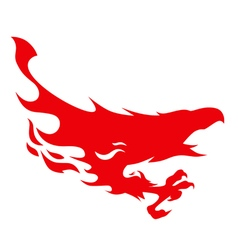 silhouette of a flying Phoenix vector image vector image