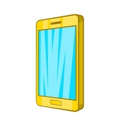 Smartphone icon in cartoon style vector image