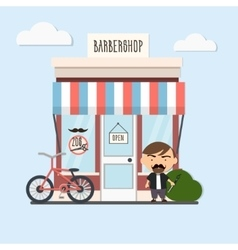 stylish barber character vector image