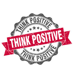 think positive stamp sign seal vector image vector image