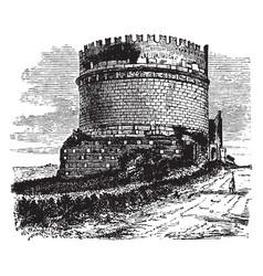 Tomb of caecilia metella independent monumental vector