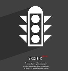 Traffic light signal icon symbol flat modern web vector