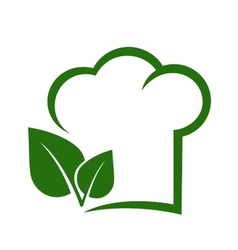 Vegetarian sign with chef hat vector