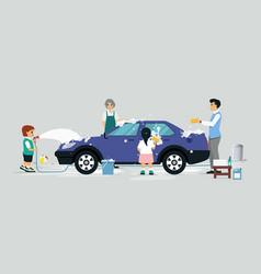 Wash a car vector
