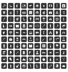 100 help icons set black vector