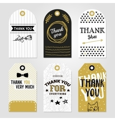 Thank you tag set vector