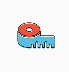 linear icons tape vector image
