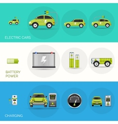 Electric car banners vector