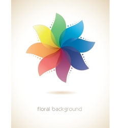 Abstract multicolored flower vector