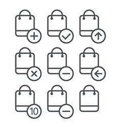 Different shopping icons set with rounde vector