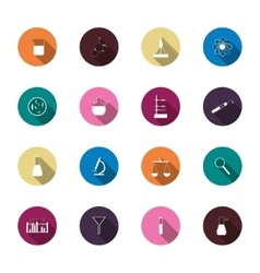 Science trendy icons pack for design vector