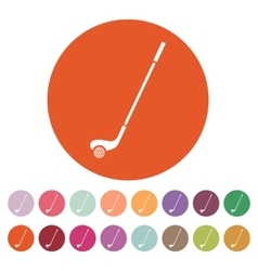 Golf icon game symbol flat vector