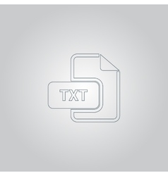 Txt text file extension icon vector
