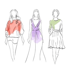 Set models fashion vector