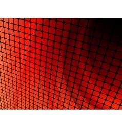 Abstract orange mosaic vector image vector image